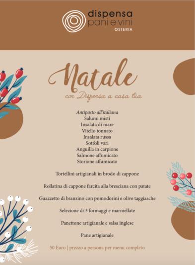 MENU COMPLETO DI NATALE D'ASPORTO